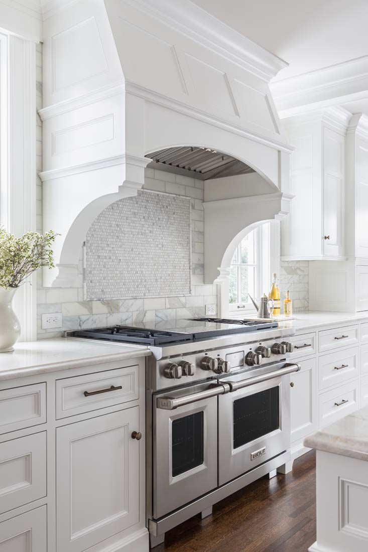 Andrea Rugg Photography | Wolf range in beautiful white kitchen ...
