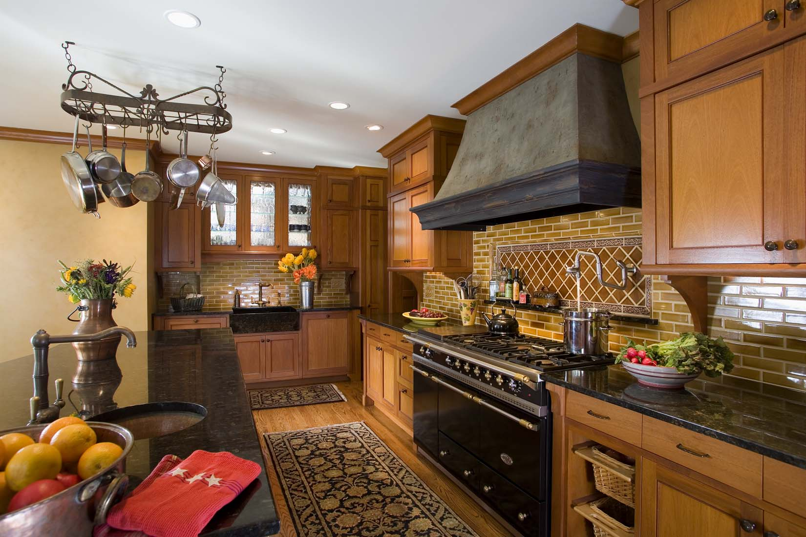 High end kitchen with large Lacance stove - Andrea Rugg ...