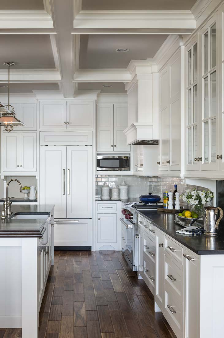 Andrea Rugg Photography | White kitchen with beautiful cabinetry and ...